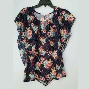 Notations womens floral blouse